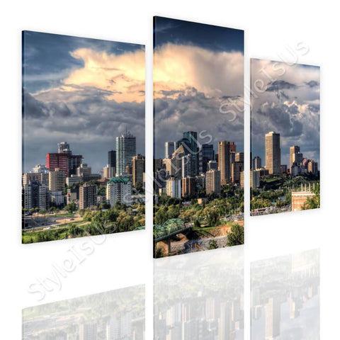 Split 3 panels Canadas Skycrapers 3 Panels | Canvas, Posters, Prints & Stickers - StyleIsUS.com