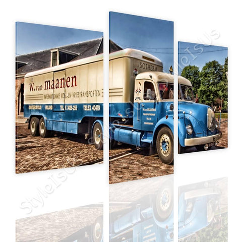 Split 3 panels Classic Vintage Truck 3 Panels | Canvas, Posters, Prints & Stickers - StyleIsUS.com