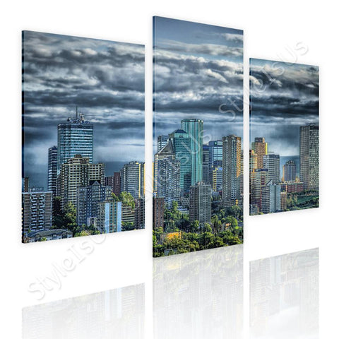 Split 3 panels Skyline of Canada 3 Panels | Canvas, Posters, Prints & Stickers - StyleIsUS.com