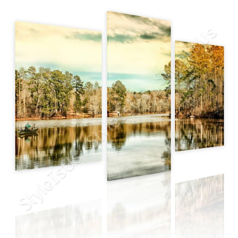 Split 3 panels Trees Next to Geogia 3 Panels | Canvas, Posters, Prints & Stickers - StyleIsUS.com