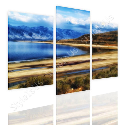 Split 3 panels Utahs Salt Lake 3 Panels | Canvas, Posters, Prints & Stickers - StyleIsUS.com