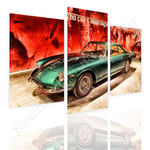 Split 3 panels Vintage Ferrari 1965 3 Panels | Canvas, Posters, Prints & Stickers - StyleIsUS.com