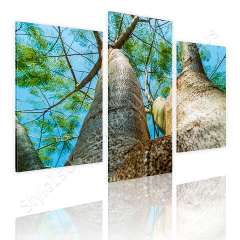 Split 3 panels A Log in the nature 3 Panels | Canvas, Posters, Prints & Stickers - StyleIsUS.com