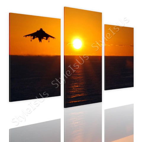 Split 3 panels Aircraft taking off 3 Panels | Canvas, Posters, Prints & Stickers - StyleIsUS.com