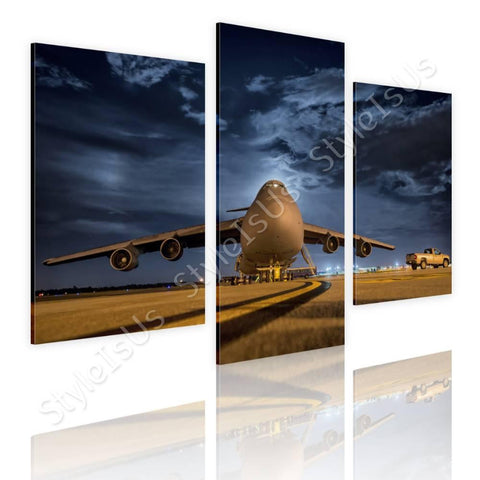 Split 3 panels Airplane taking off 3 Panels | Canvas, Posters, Prints & Stickers - StyleIsUS.com