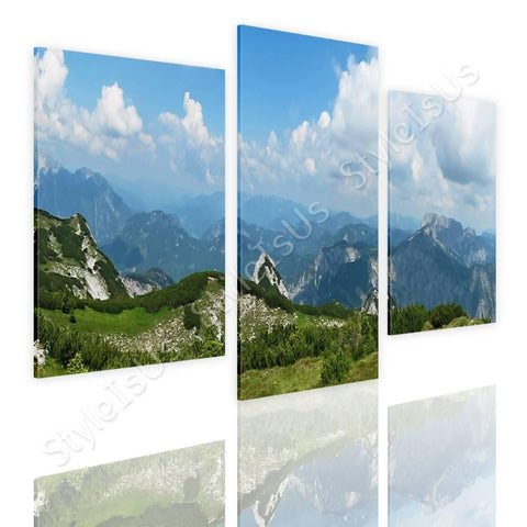 Split 3 panels Alps Mountains 3 Panels | Canvas, Posters, Prints & Stickers - StyleIsUS.com