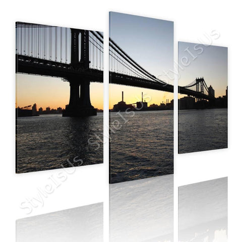 Split 3 panels Brooklyn Bridge 3 Panels | Canvas, Posters, Prints & Stickers - StyleIsUS.com