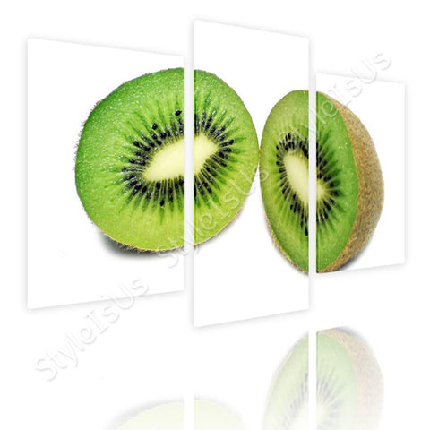 Split 3 panels Healthy Kiwi 3 Panels | Canvas, Posters, Prints & Stickers - StyleIsUS.com