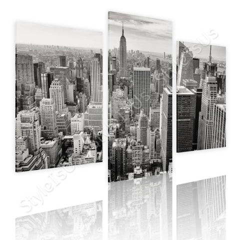 Split 3 panels New York City Manhattan 3 Panels | Canvas, Posters, Prints & Stickers - StyleIsUS.com