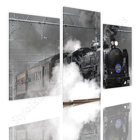 Split 3 panels Railroad in Japan 3 Panels | Canvas, Posters, Prints & Stickers - StyleIsUS.com