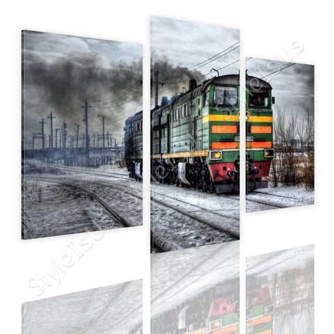 Split 3 panels Russian Train 3 Panels | Canvas, Posters, Prints & Stickers - StyleIsUS.com