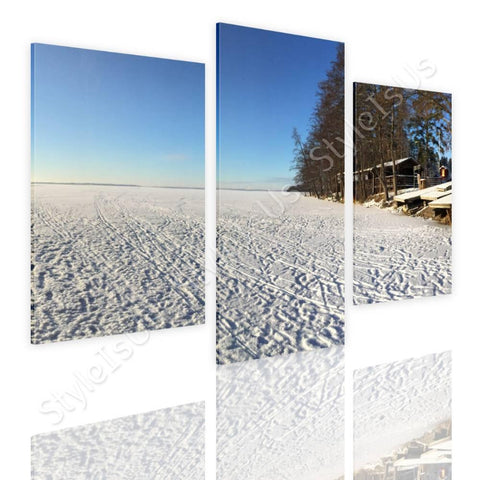 Split 3 panels Winter Snow Icy Forest 3 Panels | Canvas, Posters, Prints & Stickers - StyleIsUS.com