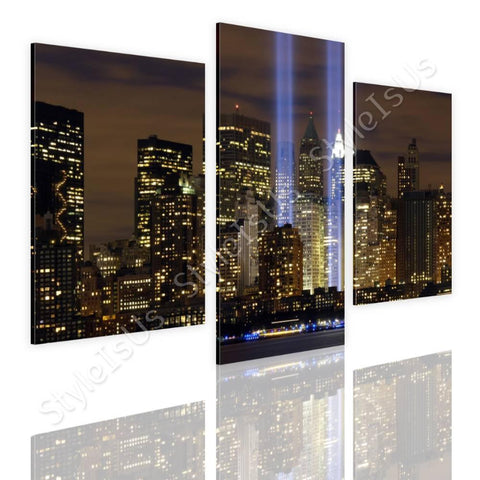 Split 3 panels WTC Twins NYC 3 Panels | Canvas, Posters, Prints & Stickers - StyleIsUS.com