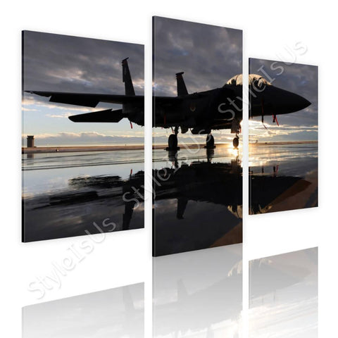 Split 3 panels F15 US air force 3 Panels | Canvas, Posters, Prints & Stickers - StyleIsUS.com