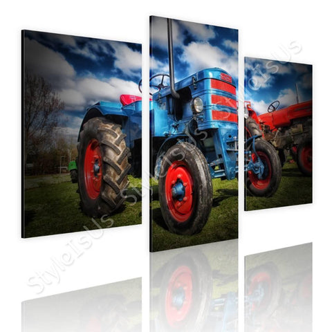 Split 3 panels Tractor Agriculture 3 Panels | Canvas, Posters, Prints & Stickers - StyleIsUS.com