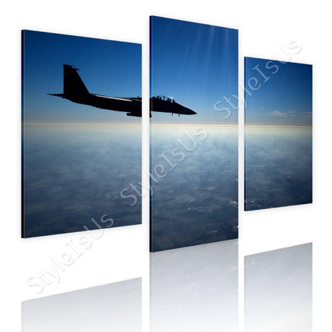 Split 3 panels US Air force Jet F15 3 Panels | Canvas, Posters, Prints & Stickers - StyleIsUS.com