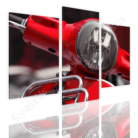 Split 3 panels Vespa scooter on the road 3 Panels | Canvas, Posters, Prints & Stickers - StyleIsUS.com