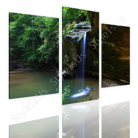 Split 3 panels Waterfall stream 3 Panels | Canvas, Posters, Prints & Stickers - StyleIsUS.com