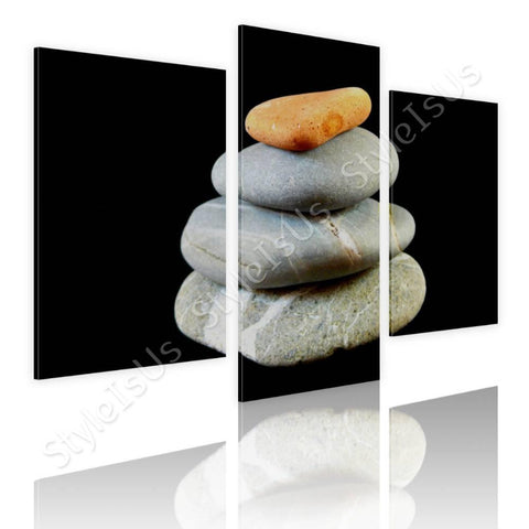 Split 3 panels Zen Balanced stones 3 Panels | Canvas, Posters, Prints & Stickers - StyleIsUS.com