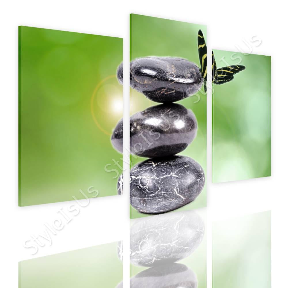 Split 3 panels Zen Stones in nature 3 Panels | Canvas, Posters, Prints & Stickers - StyleIsUS.com