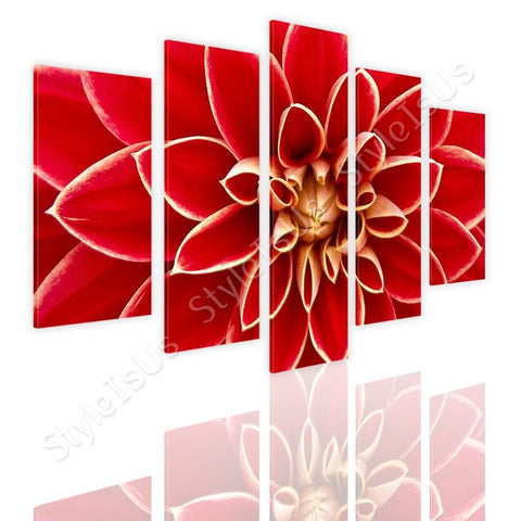 Split 5 panels Dahlia in the Autumn 5 Panels | Canvas, Posters, Prints & Stickers - StyleIsUS.com