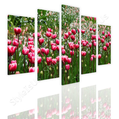 Split 5 panels Tulips 5 Panels | Canvas, Posters, Prints & Stickers - StyleIsUS.com