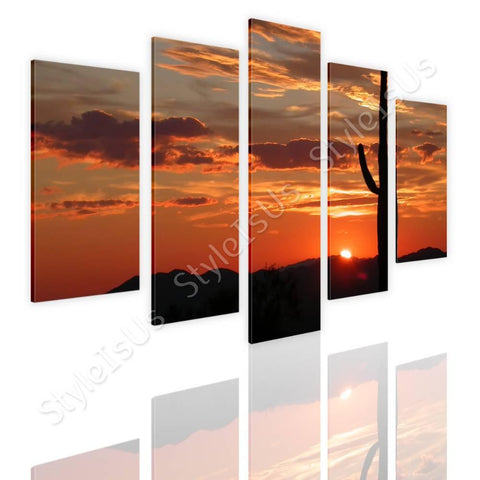 Split 5 panels Arizonas Landscape 5 Panels | Canvas, Posters, Prints & Stickers - StyleIsUS.com