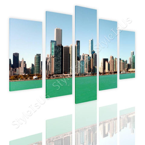 Split 5 panels Lake Michigan 5 Panels | Canvas, Posters, Prints & Stickers - StyleIsUS.com