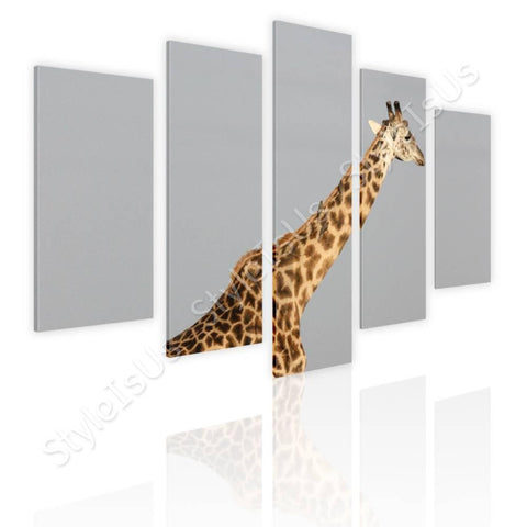 Split 5 panels Africas Giraffe 5 Panels | Canvas, Posters, Prints & Stickers - StyleIsUS.com