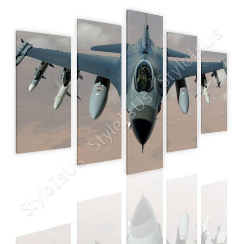 Split 5 panels Air Force Fighter Pilot 5 Panels | Canvas, Posters, Prints & Stickers - StyleIsUS.com