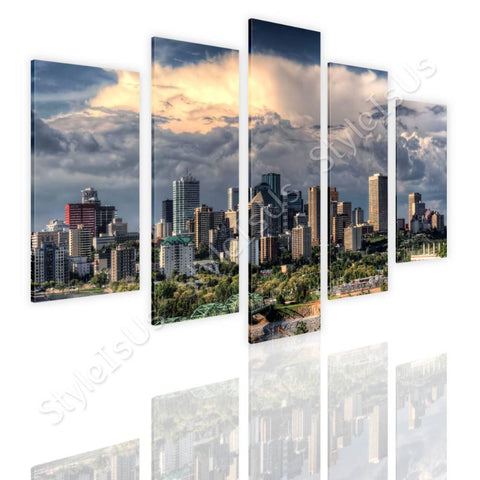 Split 5 panels Canadas Skycrapers 5 Panels | Canvas, Posters, Prints & Stickers - StyleIsUS.com