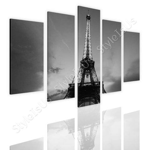 Split 5 panels Eiffel Tower 5 Panels | Canvas, Posters, Prints & Stickers - StyleIsUS.com
