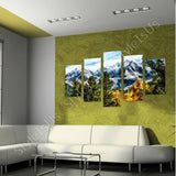 Split 5 panels Mountains View in Trees 5 Panels | Canvas, Posters, Prints & Stickers - StyleIsUS.com