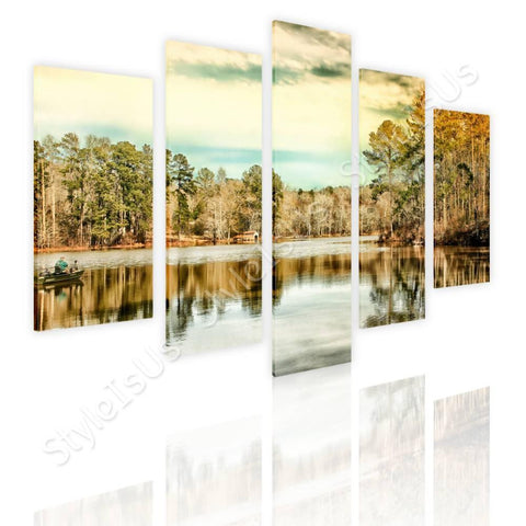 Split 5 panels Trees Next to Geogia 5 Panels | Canvas, Posters, Prints & Stickers - StyleIsUS.com