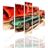 Split 5 panels Vintage Ferrari 1965 5 Panels | Canvas, Posters, Prints & Stickers - StyleIsUS.com