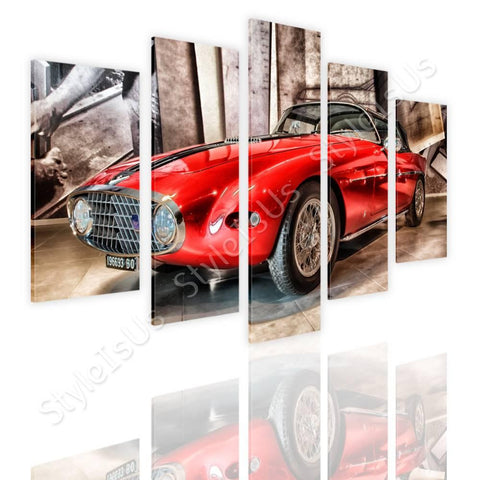 Split 5 panels Vintage Fiat 1953 5 Panels | Canvas, Posters, Prints & Stickers - StyleIsUS.com