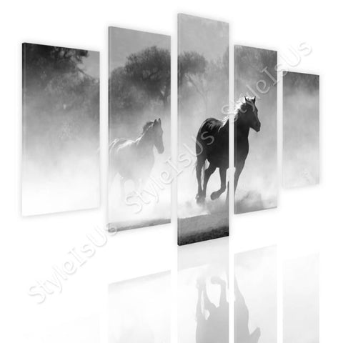 Split 5 panels Wild Horse running 5 Panels | Canvas, Posters, Prints & Stickers - StyleIsUS.com