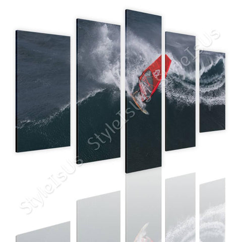 Split 5 panels Wind Surfing 5 Panels | Canvas, Posters, Prints & Stickers - StyleIsUS.com