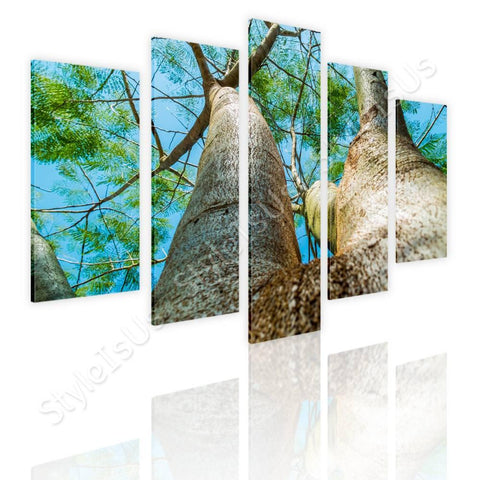 Split 5 panels A Log in the nature 5 Panels | Canvas, Posters, Prints & Stickers - StyleIsUS.com