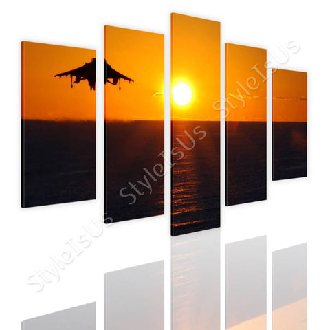 Split 5 panels Aircraft taking off 5 Panels | Canvas, Posters, Prints & Stickers - StyleIsUS.com