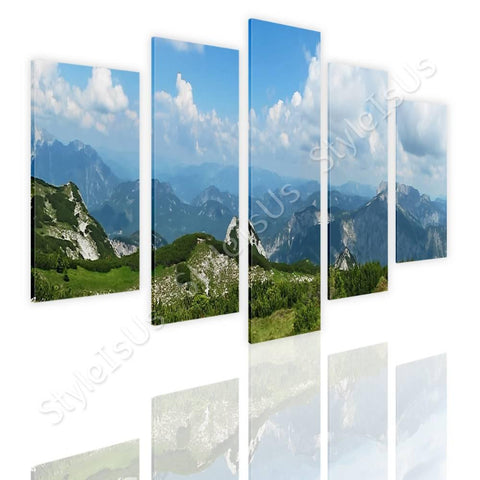 Split 5 panels Alps Mountains 5 Panels | Canvas, Posters, Prints & Stickers - StyleIsUS.com