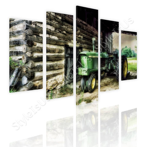 Split 5 panels Barn Farms Log 5 Panels | Canvas, Posters, Prints & Stickers - StyleIsUS.com