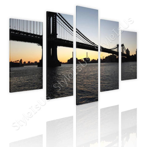 Split 5 panels Brooklyn Bridge 5 Panels | Canvas, Posters, Prints & Stickers - StyleIsUS.com
