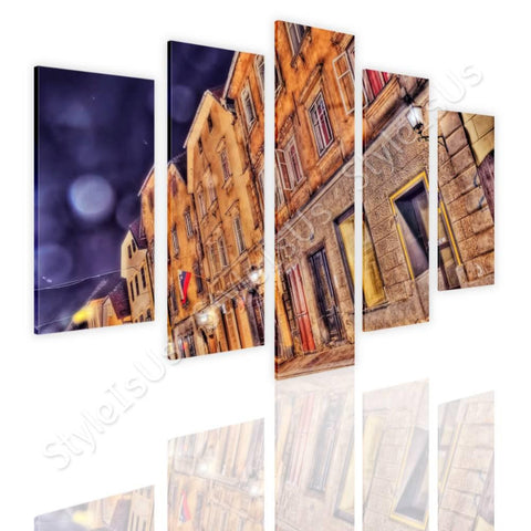 Split 5 panels Buildings Urban Life 5 Panels | Canvas, Posters, Prints & Stickers - StyleIsUS.com