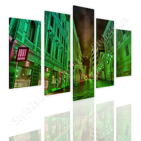 Split 5 panels HDR Urban Architecture 5 Panels | Canvas, Posters, Prints & Stickers - StyleIsUS.com