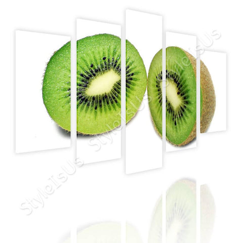 Split 5 panels Healthy Kiwi 5 Panels | Canvas, Posters, Prints & Stickers - StyleIsUS.com