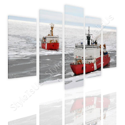 Split 5 panels Ice Breakers Ships 5 Panels | Canvas, Posters, Prints & Stickers - StyleIsUS.com