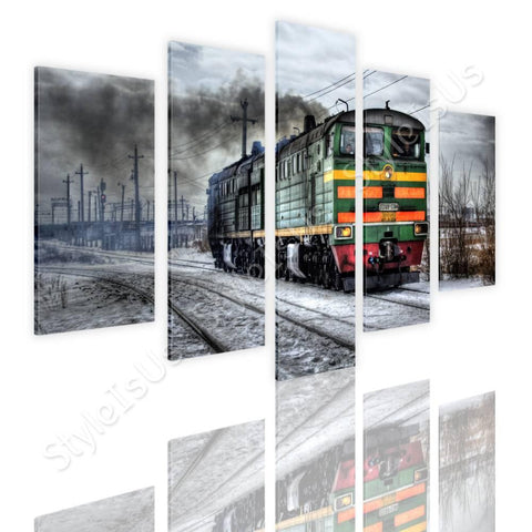 Split 5 panels Russian Train 5 Panels | Canvas, Posters, Prints & Stickers - StyleIsUS.com