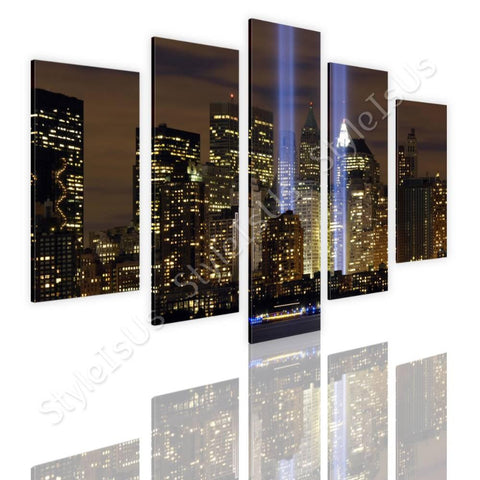 Split 5 panels WTC Twins NYC 5 Panels | Canvas, Posters, Prints & Stickers - StyleIsUS.com