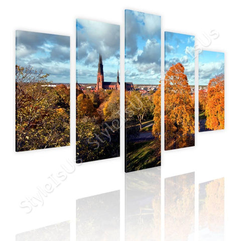 Split 5 panels Landscape in Sweden 5 Panels | Canvas, Posters, Prints & Stickers - StyleIsUS.com